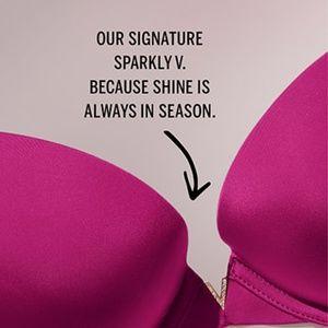 Victoria's Secret Intimates & Sleepwear - VICTORIA'S SECRET Purple Sexy Illusions Demi Bra